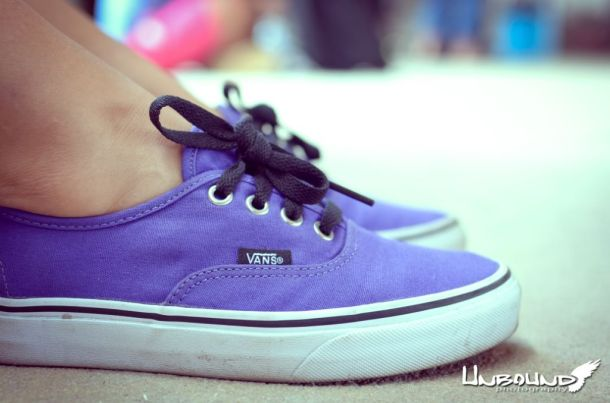 My favorite shoes. Gotta love those purple VansPhoto Credit: Crystal Bos (Unbound Photography)