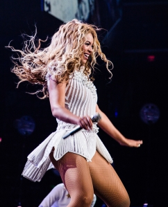 "Singer Beyonce performs on her ""Mrs. Carter Show World Tour 2013"", on Tuesday, July 9, 2013 at the BB&T Center in Ft.Lauderdale, Florida. (Photo by Robin Harper/Invision for Parkwood Entertainment/AP Images)"