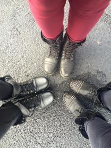 Wearing some kick ass boots ready for a kick ass show!